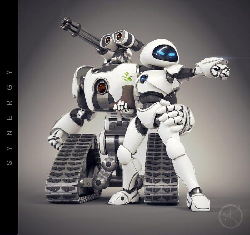 What if WALL-E was a gun-toting battle bot?