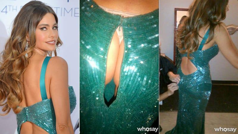Sofía Vergara's Ass Cheeks Attempted a Risky Escape Through the Back of Her Dress Last Night