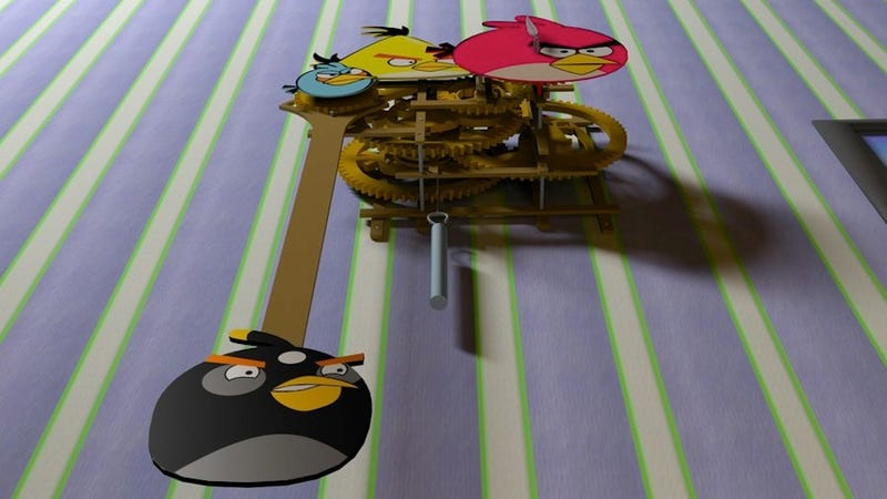 A Peek Inside the Grinding Gears of an Awesome Angry Birds Clock