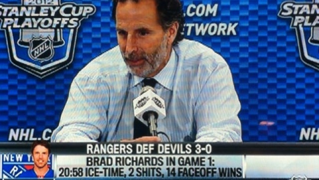"NHL Network Credits Brad Richards With Giving ""2 Shits"" In Rangers' Win Over Devils"