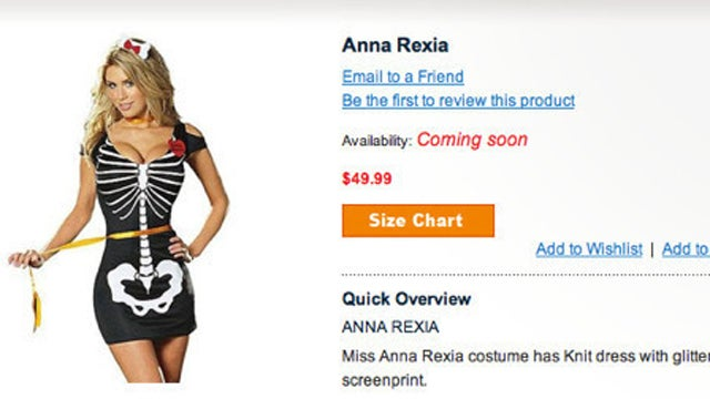 "Ricky's Sells, Then Pulls ""Anna Rexia"" Costume"