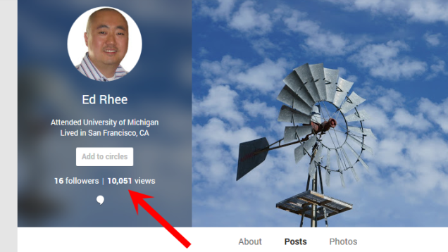 How to Hide Your Google+ View Count