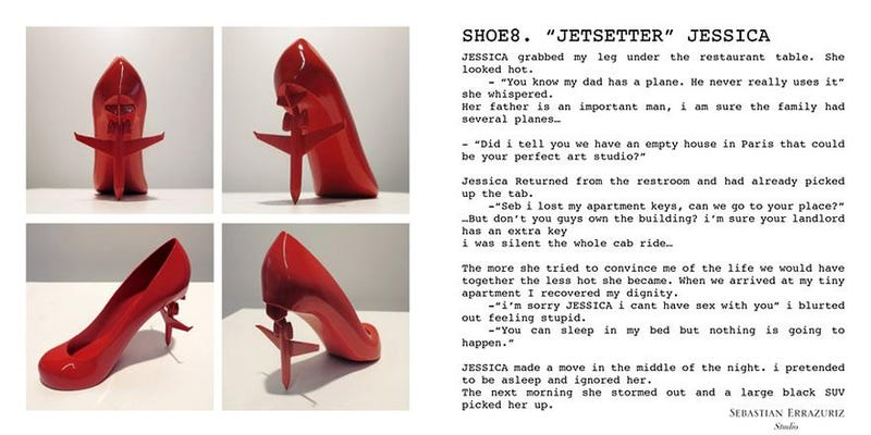 Whiny Manchild Designs Shoes Based On Exes, Calls It Art