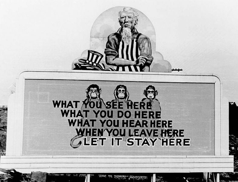 WWII Propaganda Billboards From The United States' Secret Atomic City