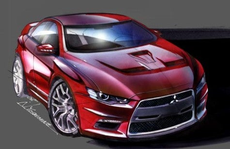 Mitsubishi Releases Evo Sketch Ahead of Detroit Unveiling