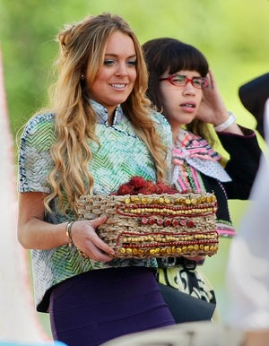 Lindsay Lohan & America Ferrera: Acting Ugly On The Set Of Betty