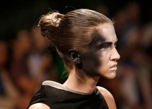 Models Molting On Paris Runway