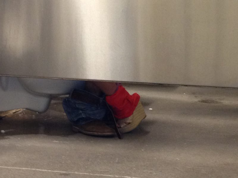 Video: A Couple Humped In A Yankee Stadium Bathroom Stall For About Three Innings On Saturday [NSFW]