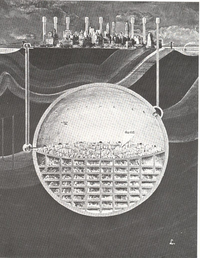 A 1969 plan to build a second, nuke-proof Manhattan below New York City