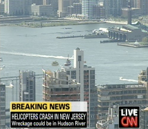 Helicopter And Plane Crash Over Hudson River