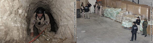Sophisticated Smuggling Tunnel Containing Rail System, Oxygen Pumps, And 30 Tons of Marijuana Discovered