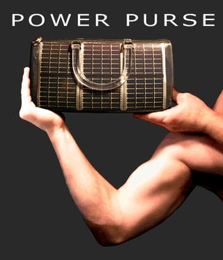 Power Purse: Designer Handbag Powers Gadgets, Questions Your Manhood