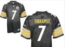 "Things That Are Not Yet Banned By NFL.com: Pittsburgh #7 Jerseys With ""Therapist"" On The Back"