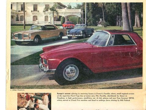 Facel Vega Facellias in Pasadena Circa 1961