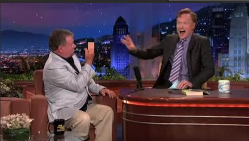 William Shatner Mimes Masturbation, Flicks Off Conan on Tonight Show