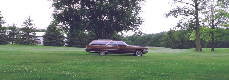 Yes, this is 20 feet of brown Cadillac wagon