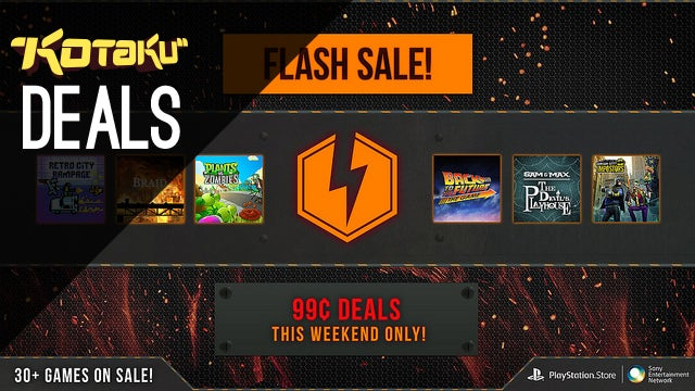Playstation Network Flash Sale: 30 Games for $1/each