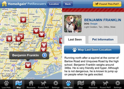 PetRescuers iPhone App Helps Reunite Lost Pets With Their Owners