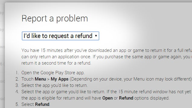 You Can Still Get a Refund From Google Play After the 15 Minute Window