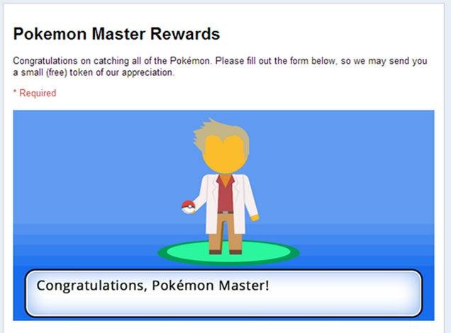 Pokémon Google Maps Rewards Players Who Catch 'Em All