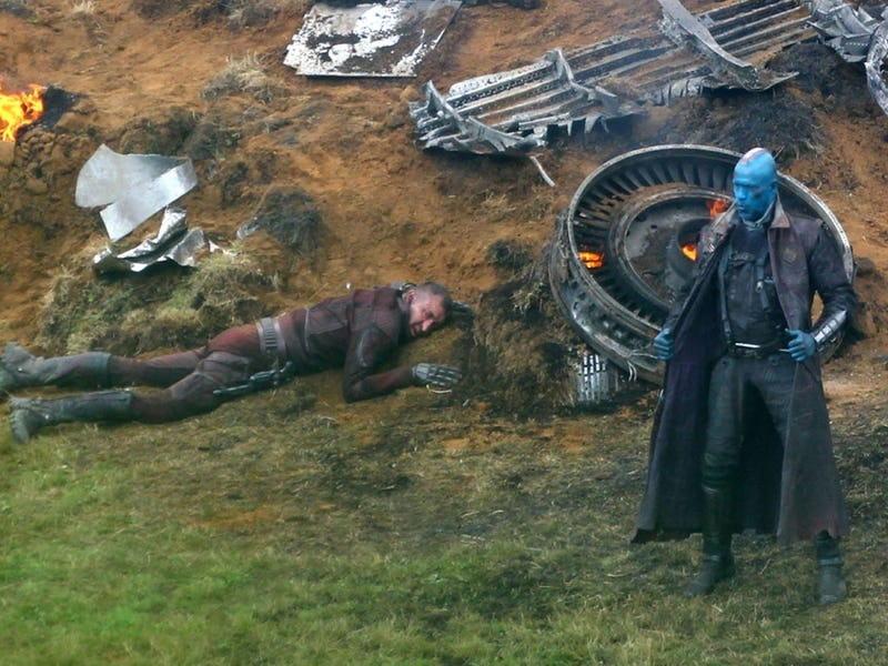 Behold Michael Rooker as a blue alien in Guardians of the Galaxy