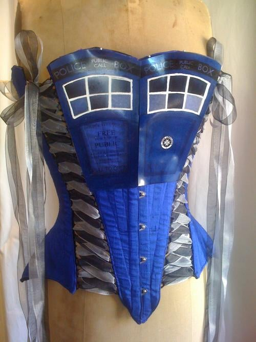 TARDIS corset is pure Time Lord burlesque