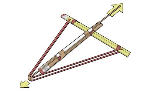 Construct a Crossbow out of Office Supplies