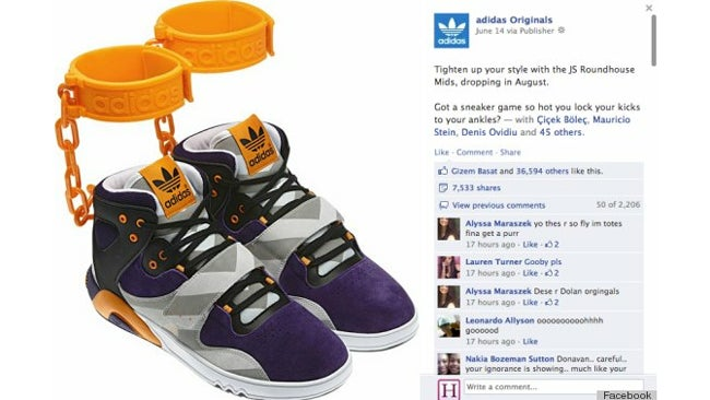Adidas Pulls 'Outrageous' Shackle Shoes