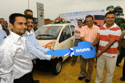 Tata Nano Key Is Half The Car's Size!