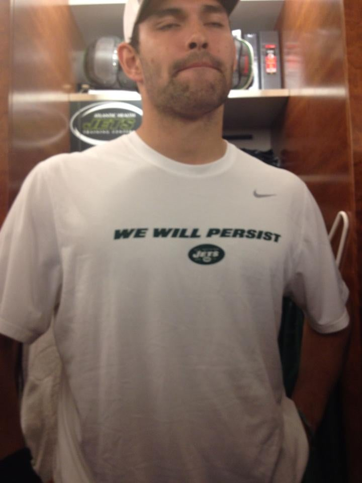 "Mark Sanchez And The Jets Are Wearing Team Shirts That Say ""We Will Persist"""