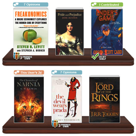 Browse and recommend books with Shelfari