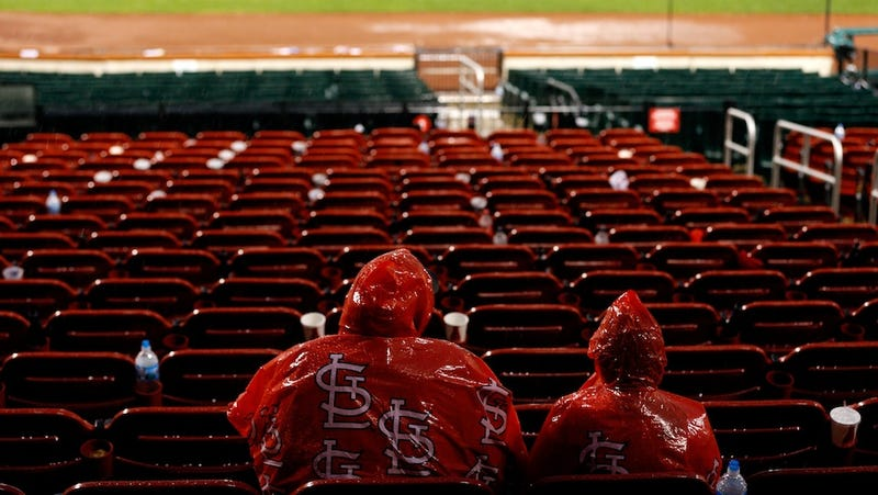 Last Night's Rain Delay Was Called One Out Before The Cardinals Had To Stop Selling Beer