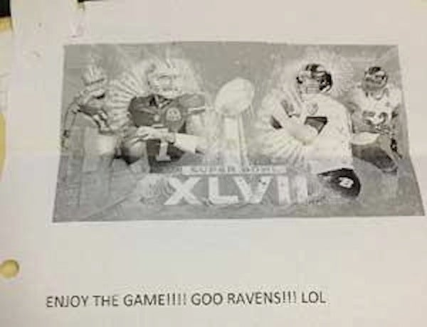 "49ers Fan Says She Wired Some Guy $5,900 For Super Bowl Tickets, But All She Got Was A Note That Read, ""Go Ravens!!!"" [UPDATED]"