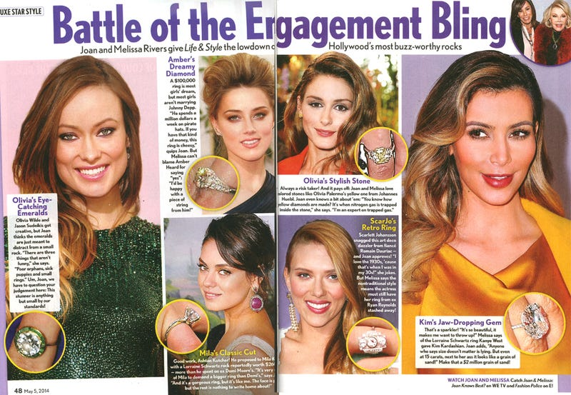 This Week in Tabloids: Battle of the Celebrity Engagement Rings