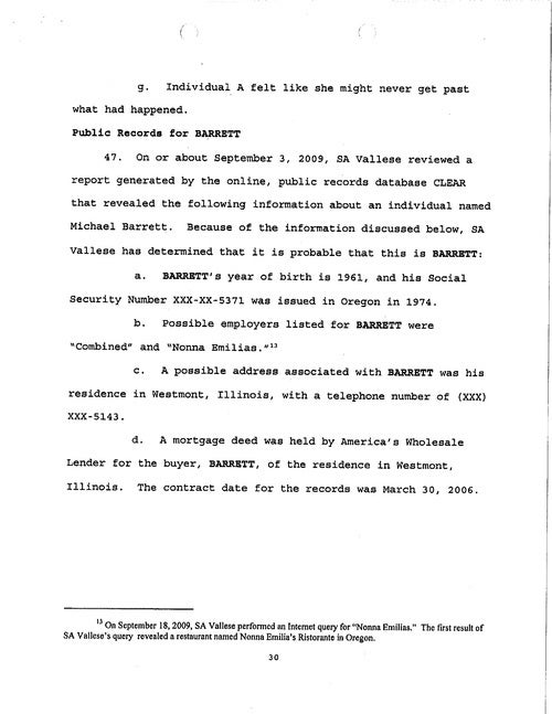 The Criminal Complaint Against Michael David Barrett, Alleged Erin Andrews Peeper