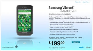 Samsung Galaxy S Known as Vibrant, Captivate and Fascinate With US Carriers