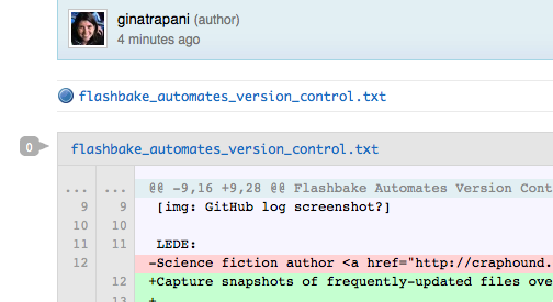 Flashbake Automates Version Control for (Nerdy) Writers