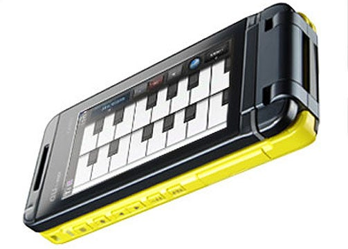 KDDI au Casio Phone Makes Music With a Touchscreen