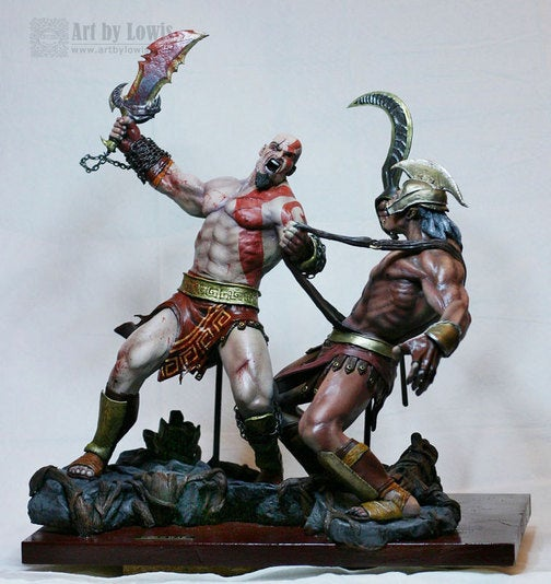 This Guy Makes A Mean Kratos Statue