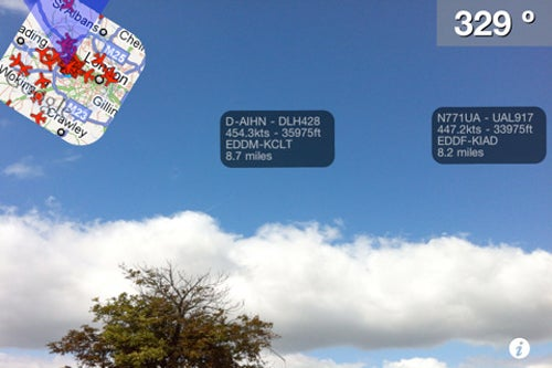 Point an iPhone at the Sky, See Augmented Reality Info as Planes Fly By