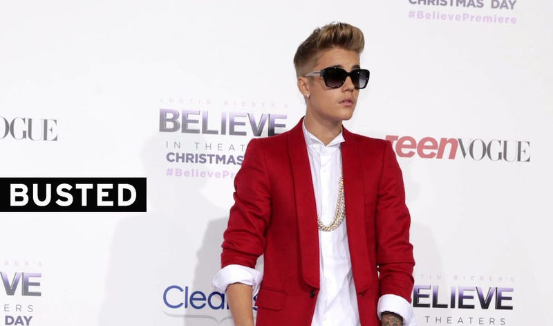 Hoppá! Letartóztatták Justin Biebert