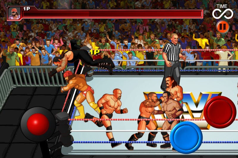 WWE Wrestlefest iPhone and iPad screens