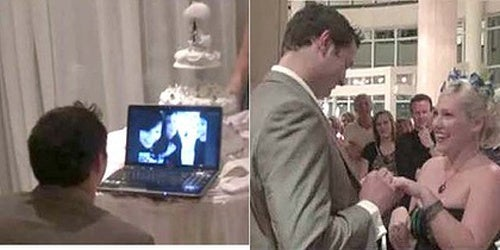 A Skype Wedding For a Volcano-Stranded Couple
