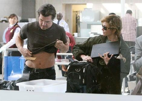 Diane Lane Checks Laptop, Husband's Lap