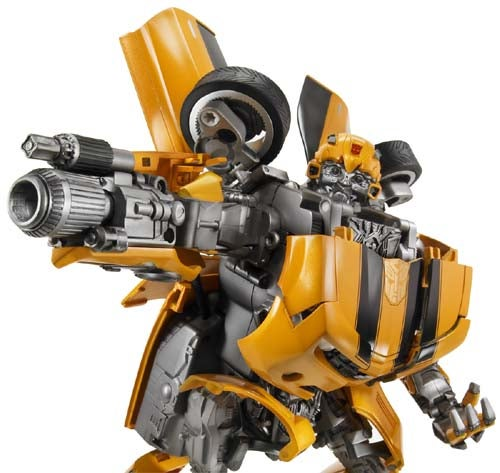 Transformers Toys For Tots: Bumblebee And Optimus Prime Show Their Stuff At ToyFair