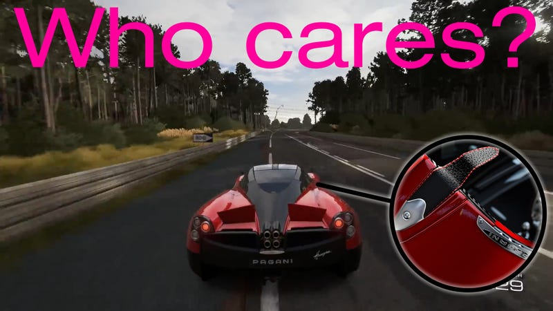 How much Level of Detail is really necessary in racing games?