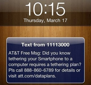"AT&T Sends Email and Texts to ""Unofficial"" Tetherers"
