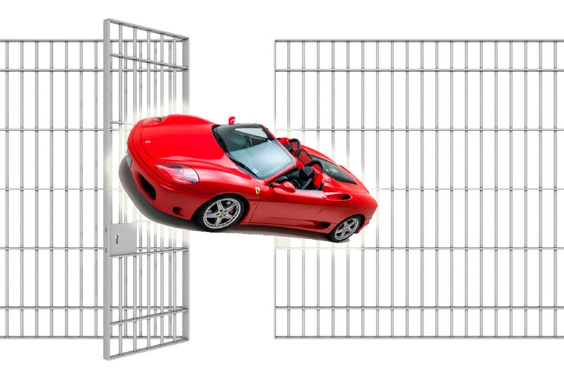 Ferrari Asshat Gets Basically No Punishment For 7th DUI And Cop Chase