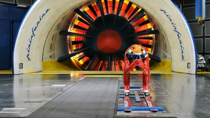 This Is What A Skier Looks Like In A Wind Tunnel