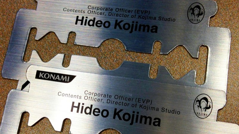 Hideo Kojima's Business Card Will Cut Your Finger Off